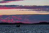 Canoe on the Moose River before sunrise.