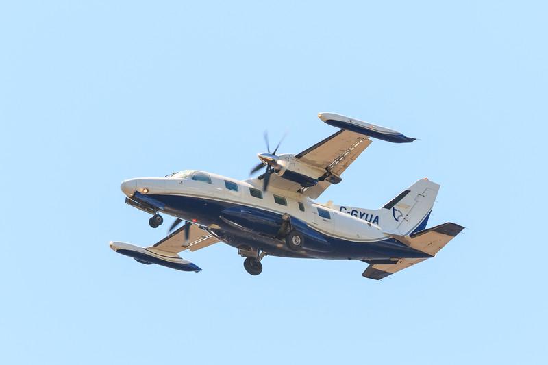 Thunder Air C-GYUA Mitsubishi  MU-2B-60 over the Moose River.