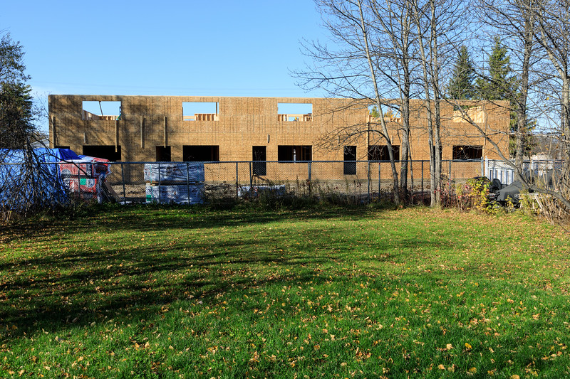 Back of new housing for Ontario Government staff in Moosonee.