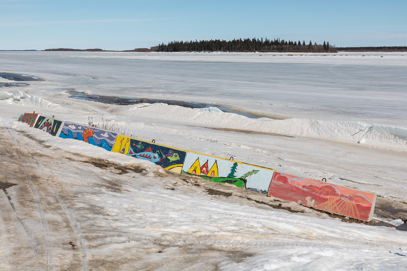 Looking across the Moose River from above public docks site towards Butler Island 2017 April 8th.