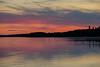 Purple sky down the Moose River before sunrise