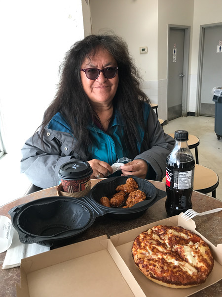 Denise Lantz at Quickstop Thanksgiving Sunday. 2018 October 7