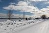 Snow along Revillon Road in Moosonee 2018 March 11th.