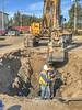 Water line work on Ferguson Road