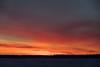 Sky across the Moose River from Moosonee before sunrise 2018 January 26th.