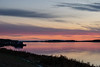 View down the Moose River from Moosonee before sunrise.