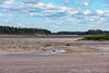 View up the Moose River at low tide.