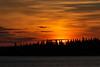 Sky around sunrise across the Moose River from Moosonee 2018 September 10.