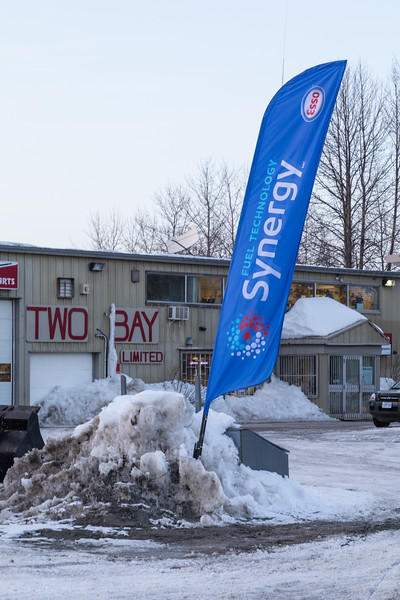 Esso Synergy banner outside Two Bay.