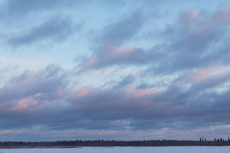 Sky before sunset over the Moose River at Moosonee 2018 April 18th.