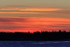 Looking across the Moose River from Moosonee just before sunrise 2018 January 6th.