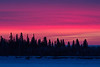 Sky before sunrise over Butler Island across the Moose River from Moosonee 2018 March 2nd.