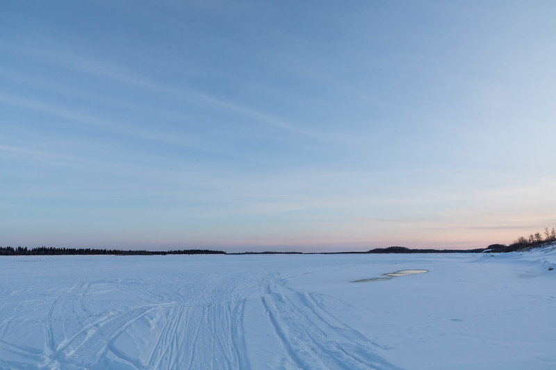 Sunset approaching - looking up the Moose River.