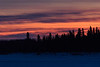 Sky before sunrise over Butler Island in the Moose River at Moosonee. 2018 March 26th.