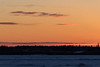 Looking across the frozen Moose River before sunrise 2018 January 24th.