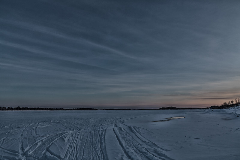 Sunset approaching - looking up the Moose River. Color EFX dark contrast.