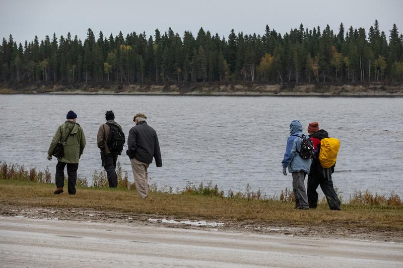 Bird watching tourists along the Moose River. 2018 October 10.