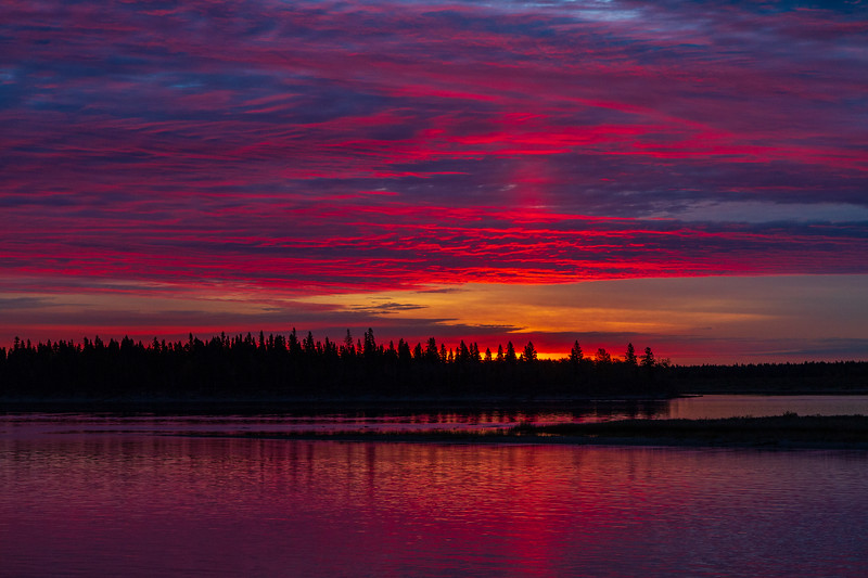South end of Butler Island before sunrise under purple skies. 2018 October 8