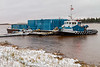 Tug Nelson River and barge in Moosonee.