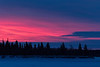 Sly before sunrise at Moosonee. Looking across the Moose River towards the south end of Butler Island.