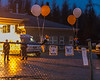 Memorial candle lit walk in Moosonee honouring Ornge crew members.