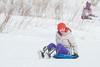 Moosonee Min Winter Carnival Sliding at McCauley's Hill.