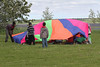 Moosonee National Aboriginal Day 2012 June 21st events at Baseball Diamond. Parachute.