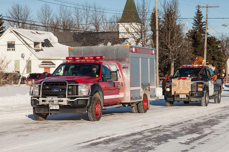 Santa Claus Parade in Moosonee, Ontario 2012 December 15th.