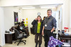 Official opening of the Moosonee Satellite Office of the Timmins Native Friendship Centre. Pauline Sackaney (Town of Moosonee Councillor), John Reuben.