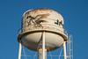 Top of Moosonee water tower.Painting of geese by Leo Etherington done in 1989.