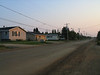 Bay Road in Moosonee looking towards downtown.