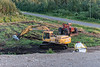 Clearing land for DeBeers Moosonee yard. 2005 August 10