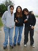Heather, Raven and Wyonna on Revillon Road in Moosonee 2007 August 14th.