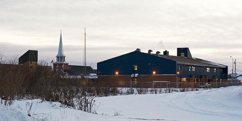 Moosonee Public School from Second Street