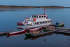 Tour boat Polar Princess at Two Bay docks in Moosonee. 2005 May 22.