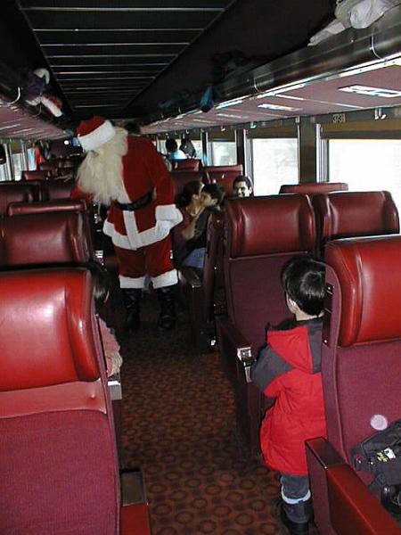 Santa Train David waiting for Santa Nov 29 1998