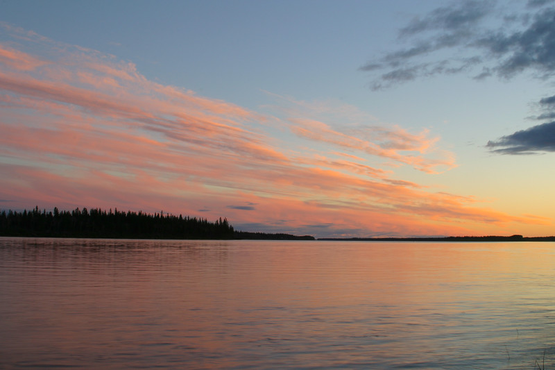 Looking up the Moose River at sunset. 2004 September 27