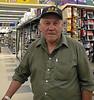 Xavier Wesley, contractor and court translator, in Northern Store in Moosonee.