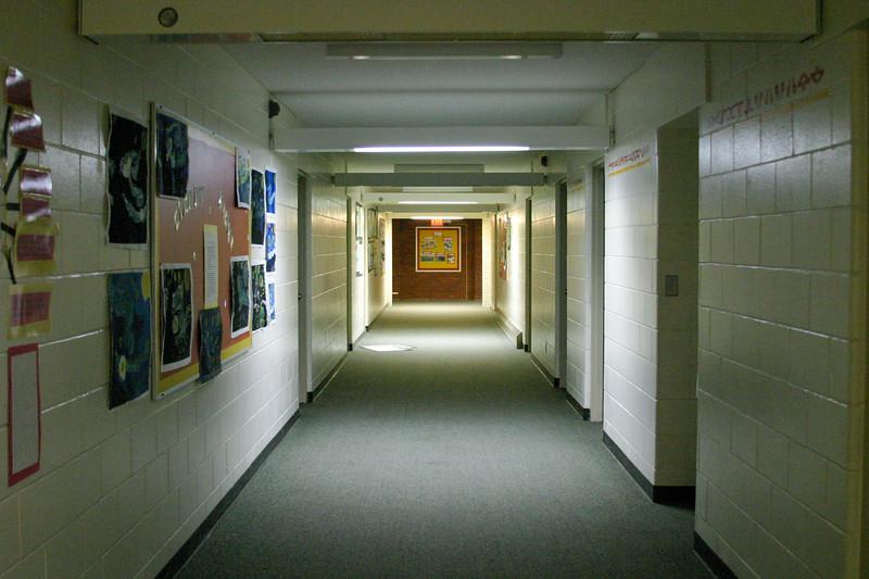 Bishop Belleau School hallway 2004 November 20.