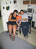 Loretta, Aaron, Ashley and baby in library 2003 August 26