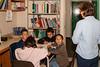 Lorraine Nakogee with students at Bishop Belleau School 2005 September 19