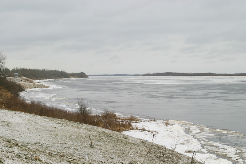 View down the Moose River 2004 November 25.