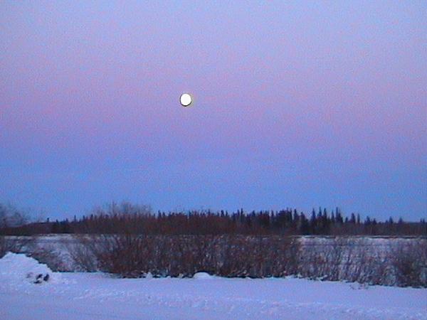 Moon over the Moose River 2002 November 17.