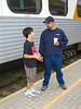 David Hunter Jr and Sr at train station 2005 September 13