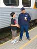David Hunter Jr and Sr at train station 2005 September 13