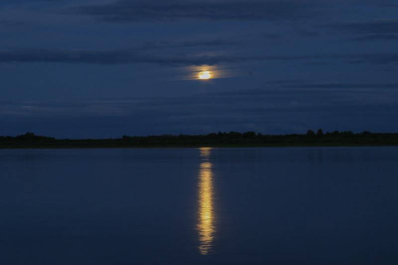 Moon rising across the Moose River 2004 September 27