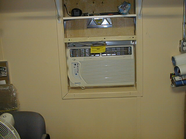 2002 May 4 air conditioner in supply room at Keewaytinok Native Legal Services