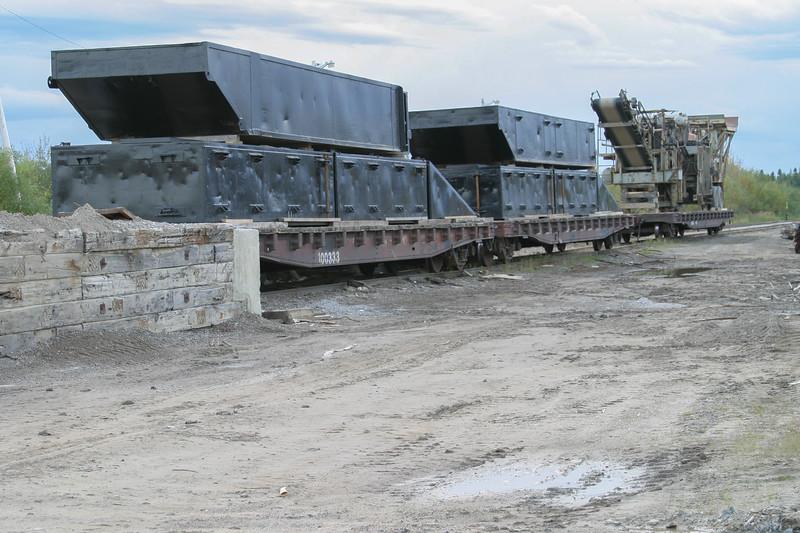 Airport Road unloading platform 2004 September 26. Gravel plant equipment