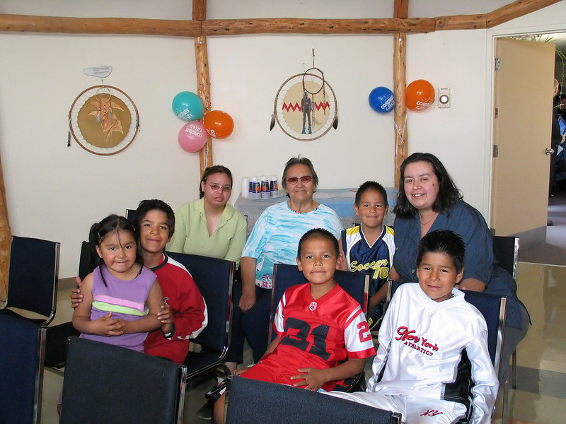 Aboriginal Teacher Education Program Graduation 2005. John and Julie Corbett family.
