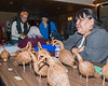 Mina Iserhoff at Christmas Bazaar with tamarack geese.